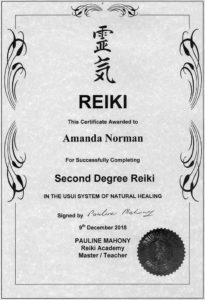 Reiki Degree 2 Amanda Norman