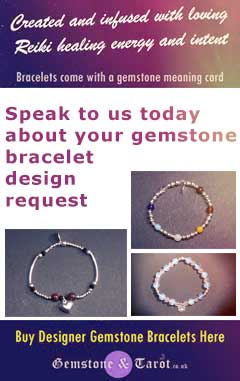 Request a design for your very own gemstone healing bracelet from Gemstone and Tarot