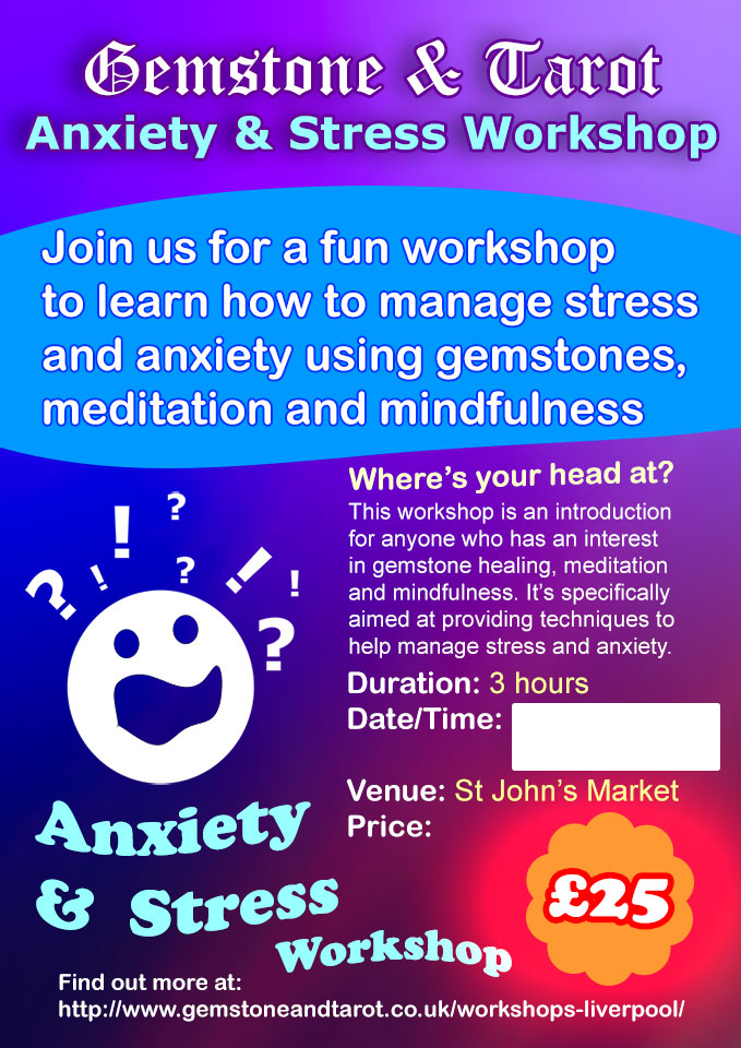 'Where's Your Head At?' Is a meditation & mindfulness workshop in Liverpool aimed at managing stress and anxiety.