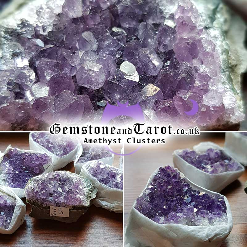 Amethyst Clusters from Gemstone and Tarot in Liverpool