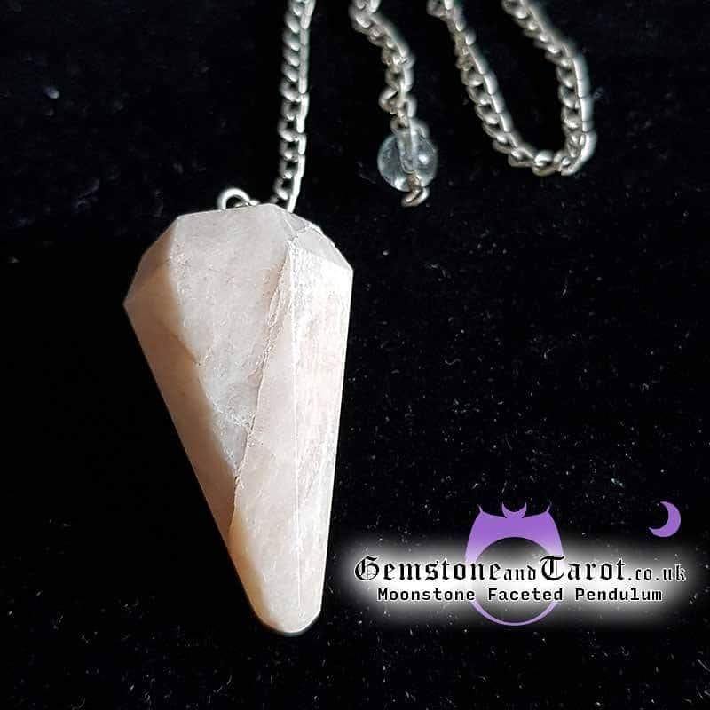Moonstone Faceted Pendulum